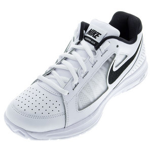 NIKE MENS AIR VAPOR ACE TENNIS SHOES WHT/BLK
