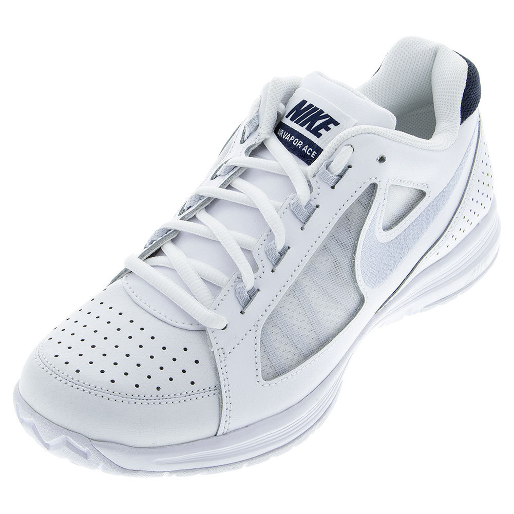Women's Air Vapor Ace Tennis Shoes White And Obsidian
