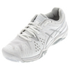 Women`s Gel-Resolution 6 Wide Tennis Shoes White and Silver by ASICS