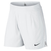 NIKE Men`s Gladiator Premier 7 Inch Tennis Short White and Silver