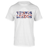 London Flag Tennis Tee White by NO SHOW