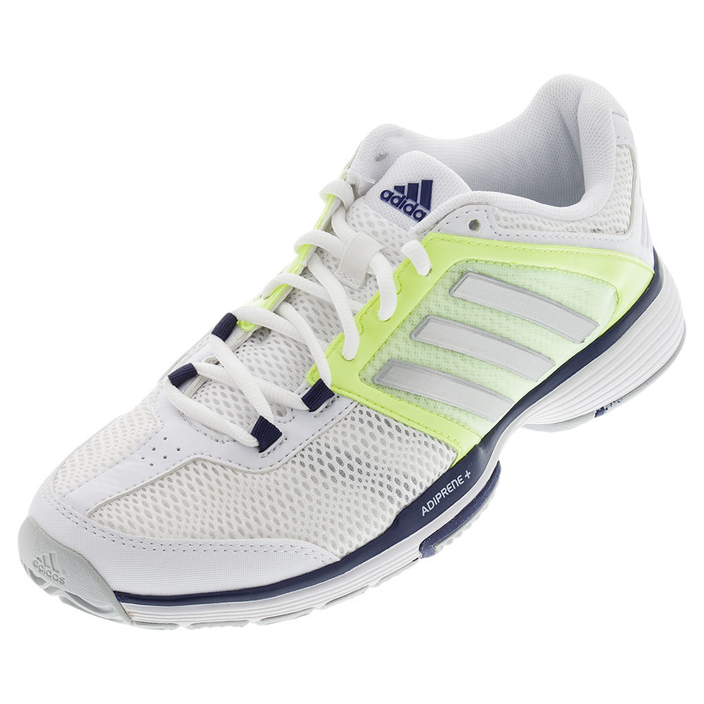 s barricade team tennis shoes white and frozen yellow