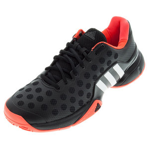 Men`s Barricade 2015 Tennis Shoes Black and Solar Red