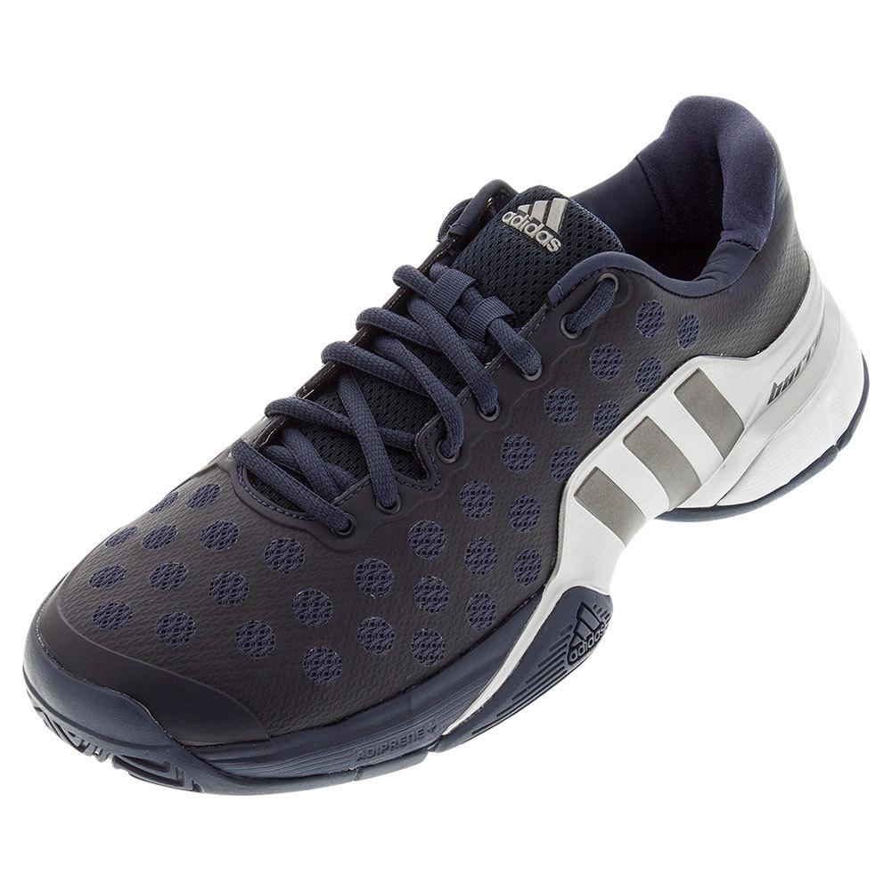 Men's Barricade 2015 Tennis Shoes Midnight Gray And Night Metallic