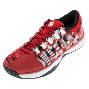 Men`s HyperCourt Tennis Shoes Red and Camo