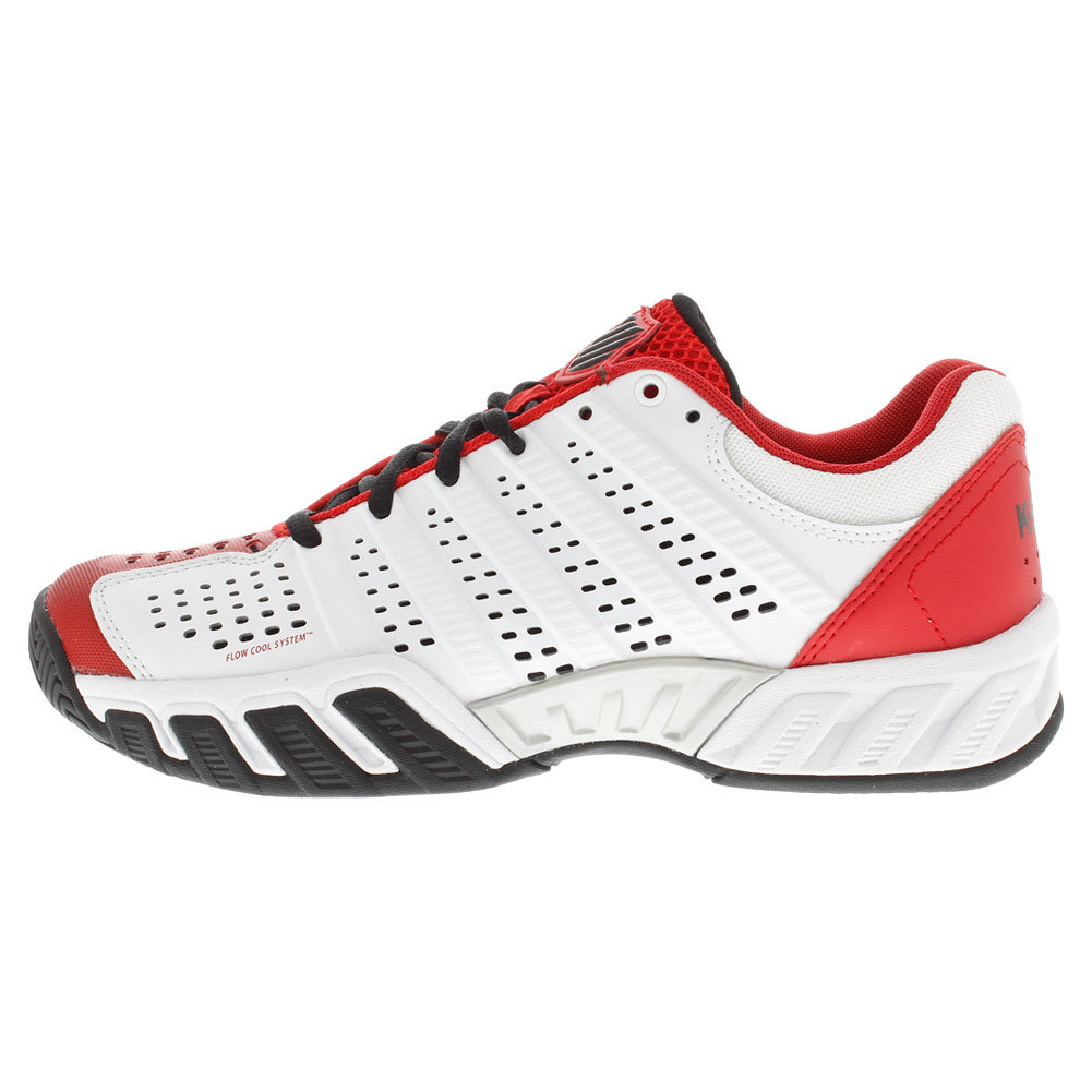 Juniors ` Bigshot Light 2.5 Tennis Shoes White And Red