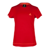 ADIDAS Girls` Galaxy Tennis Tee Power Red