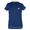 ADIDAS Girls` Galaxy Tennis Tee Midnight Indigo