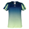 ADIDAS Girls` Adizero Tennis Tee Frozen Yellow and Silver Metallic