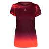 ADIDAS Girls` Adizero Tennis Tee Maroon and Solar Red