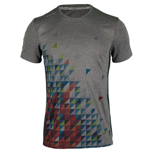 Men`s Flame Geo Dimension Tennis Crew Gray Heather