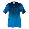 ADIDAS Boys` Adizero Tennis Tee Blue and Black