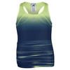 ADIDAS Girls` Adizero Tennis Tank Frozen Yellow and Silver Metallic