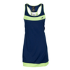 ADIDAS Women`s Galaxy Tennis Dress Midnight Indigo and Frozen Yellow