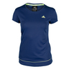 ADIDAS Women`s Galaxy Tennis Tee Midnight Indigo