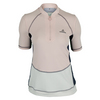 ADIDAS Women`s Stella McCartney New York Tennis Tee Light Pink and White Vapor