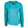 BOLLE Women`s Aquarius Long Sleeve Tennis Top Peacock