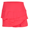 LUCKY IN LOVE Women`s Scallop Tennis Skort Coral Crush