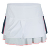 LUCKY IN LOVE Women`s Tuxedo Tier Tennis Skort White