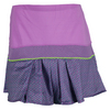 LUCKY IN LOVE Women`s Long Hybrid Pleated Tennis Skort Orchid