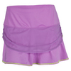 LUCKY IN LOVE Women`s Mesh Rouched Tier Tennis Skort Orchid