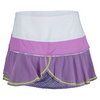 LUCKY IN LOVE Women`s Hybrid Flounce Tennis Skort Orchid and White