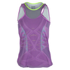 LUCKY IN LOVE Women`s Kick Start Mesh Layer Tennis Tank Orchid