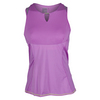 LUCKY IN LOVE Women`s Keyhole Tennis Tank Orchid