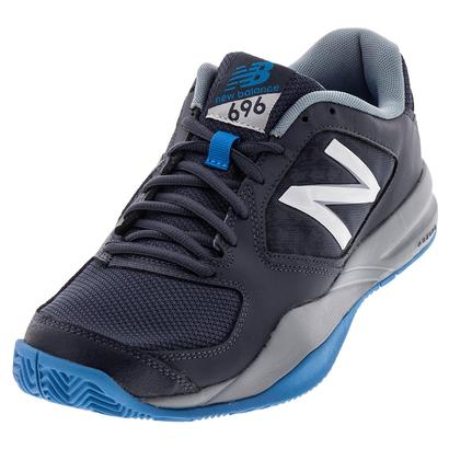 Men`s 696v2 D Width Tennis Shoes Thunder and Bolt