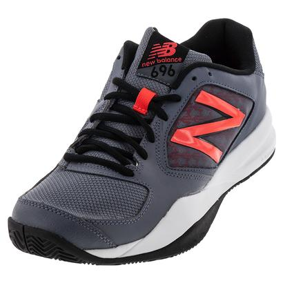 Men`s 696v2 D Width Tennis Shoes Thunder and Flame