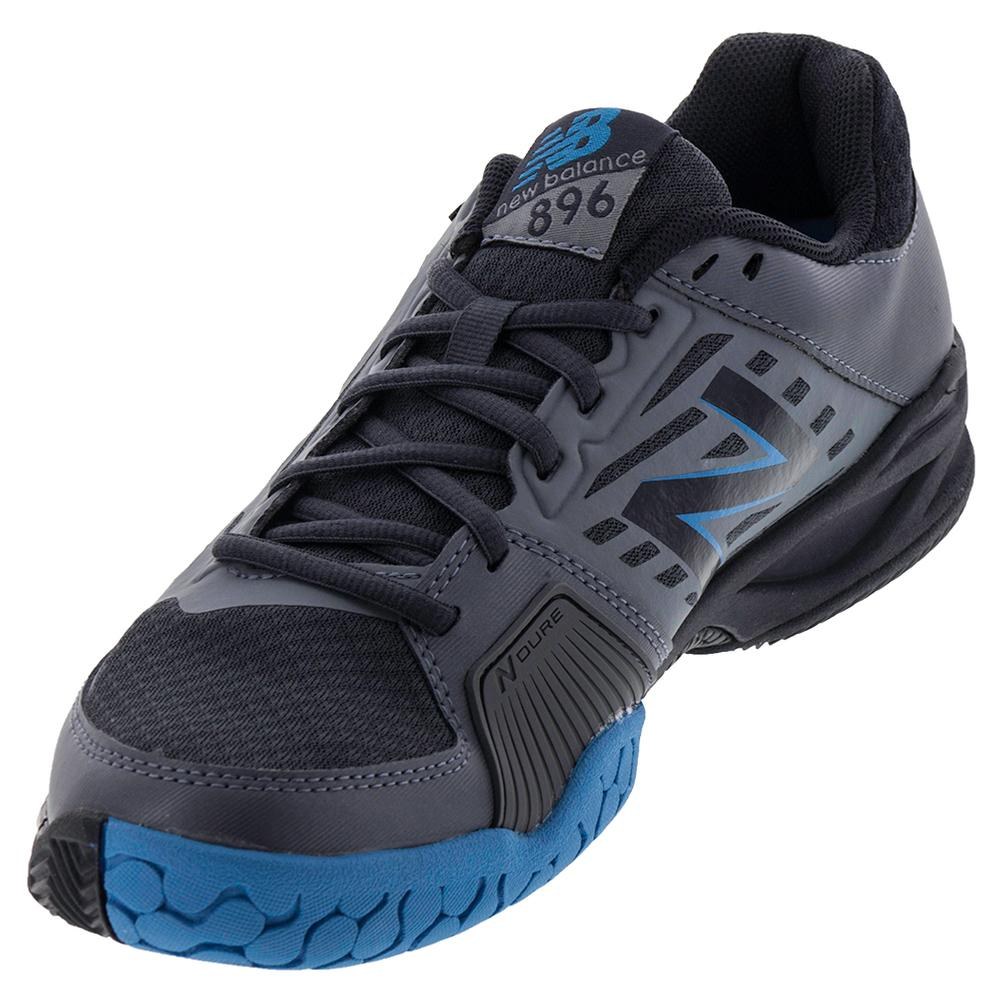 Men's 896v1 D Width Tennis Shoes Gray And Blue