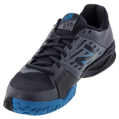Men`s 896v1 D Width Tennis Shoes Gray and Blue