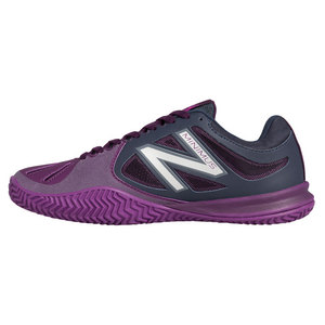 Women`s 60v1 B Width Clay Tennis Shoes Dark Gray and Voltage Violet