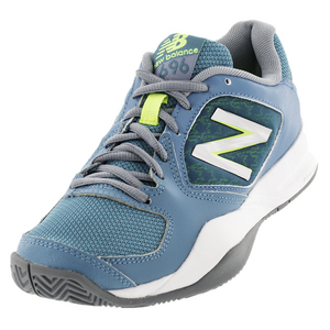 Women`s 696v2 B Width Tennis Shoes Sea Glass and Arctic