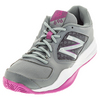 NEW BALANCE Women`s 696v2 B Width Tennis Shoes Gray and Purple