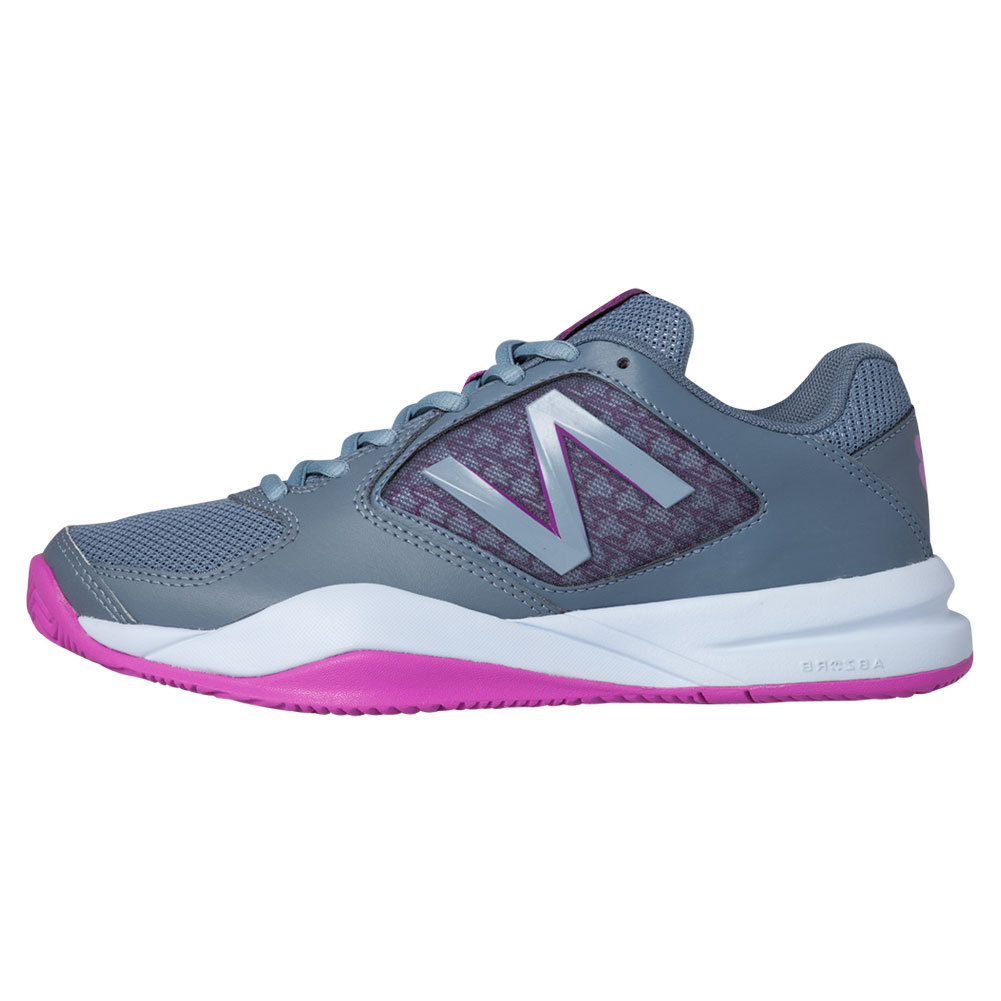 Women's 696v2 D Width Tennis Shoes Gray And Purple