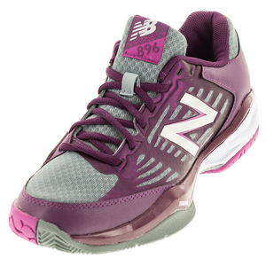 Women`s 896v1 B Width Tennis Shoes Imperial and Deep Purple