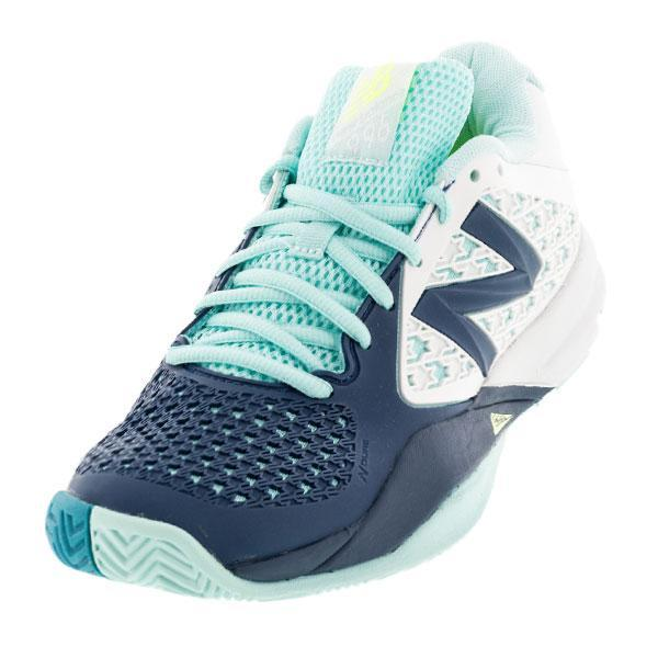 Women's 996v2 D Width Tennis Shoes Sea Glass And Deep Water