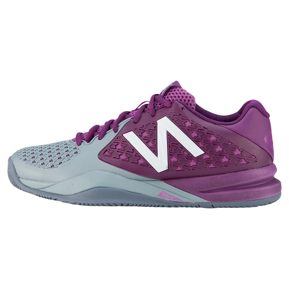 Women's 996v2 B Width Tennis Shoes Purple And Gray