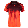 ADIDAS Men`s Adizero Tennis Tee Solar Red and Maroon