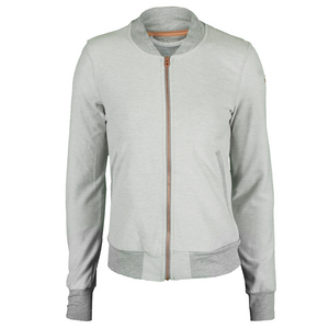 Women`s Adizero Tennis Jacket Medium Gray Heather