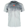 ADIDAS Men`s Adizero Tennis Tee Medium Gray Heather and Solid Heather