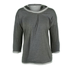 ADIDAS Women`s Adizero Long Sleeve Hooded Tennis Tee Medium Gray Heather