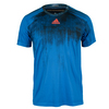 ADIDAS Men`s Adizero Tennis Tee Blue and Black