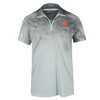 ADIDAS Men`s Adizero Tennis Polo Dark Gray Heather and Solid Gray