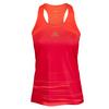ADIDAS Women`s Adizero Tennis Tank Solar Red and Maroon