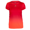 ADIDAS Women`s Adizero Tennis Tee Solar Red and Maroon