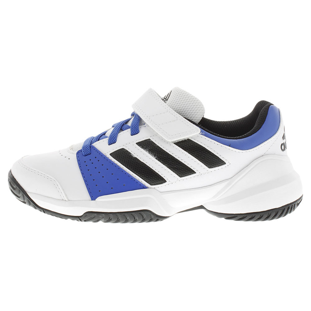Juniors ` Court El Tennis Shoes White And Blue