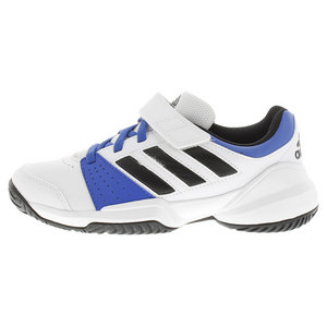 adidas JUNIORS COURT EL TENNIS SHOES WH/BLUE