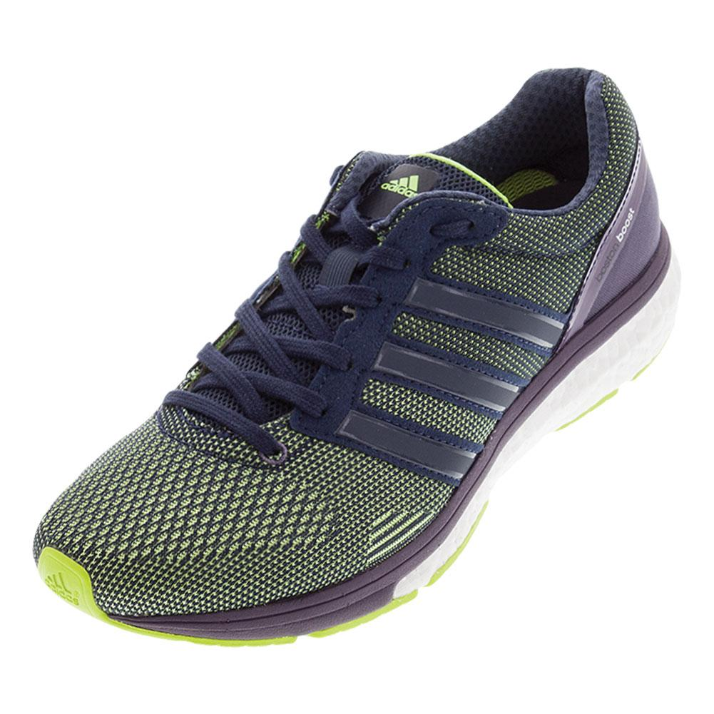 18b77baf548 ADIDAS ADIDAS Women s Adizero Boston 6 Running Shoes Solar Yellow And  Midnight Gray